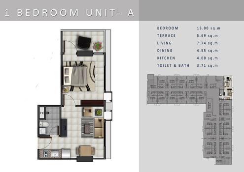 casa mira tower - 1BR
