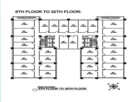 6th to 32th floor plan