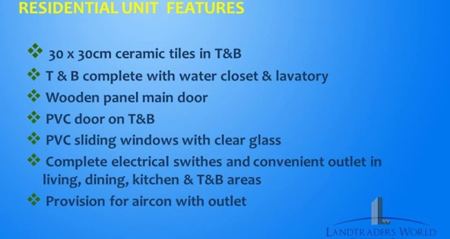 residential unit features