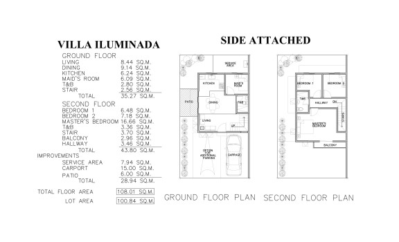 SIDE ATTACHED-FLOOR PLAN